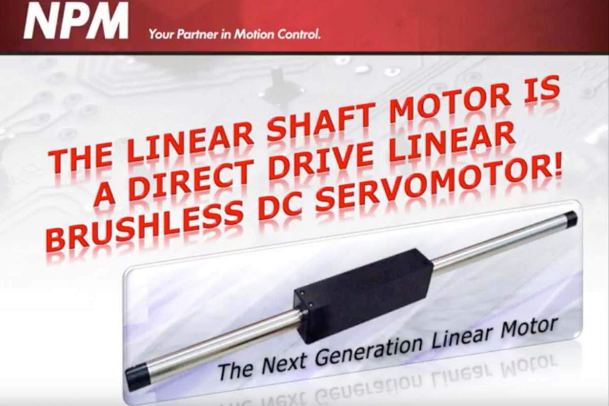 Screen capture from the demo LSM: First Linear Servo for Ultra High Precision
