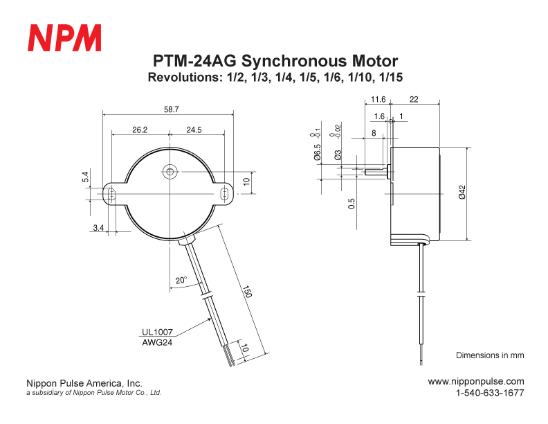 PTM-24AG(1/36000) system drawing