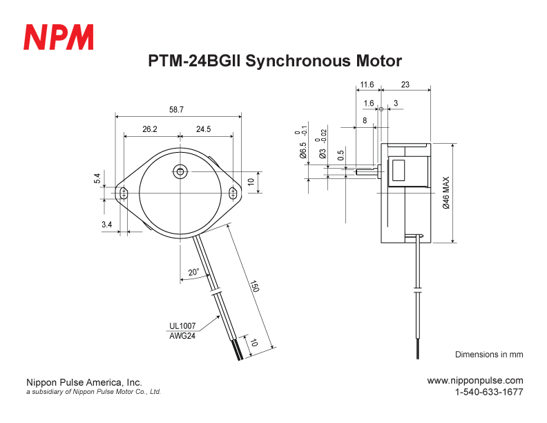 PTM-24BGII(1/60) system drawing