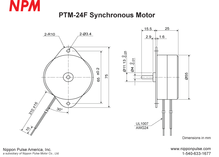 PTM-24F system drawing