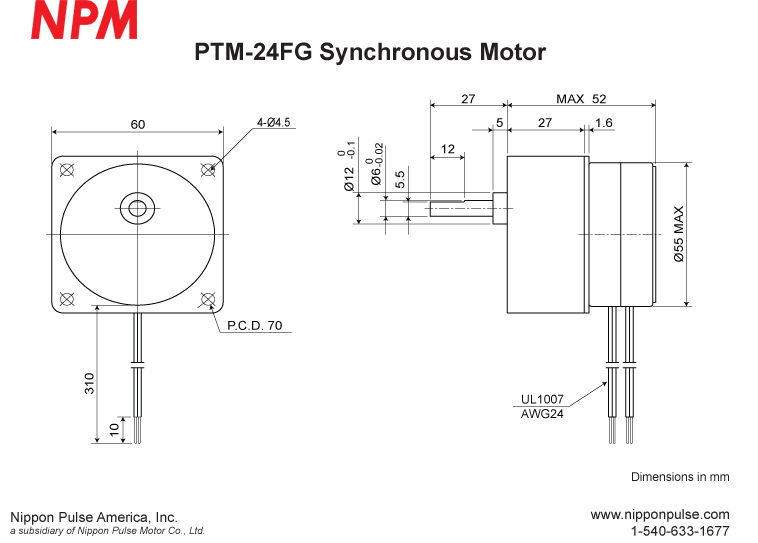 PTM-24FG(1/10) system drawing