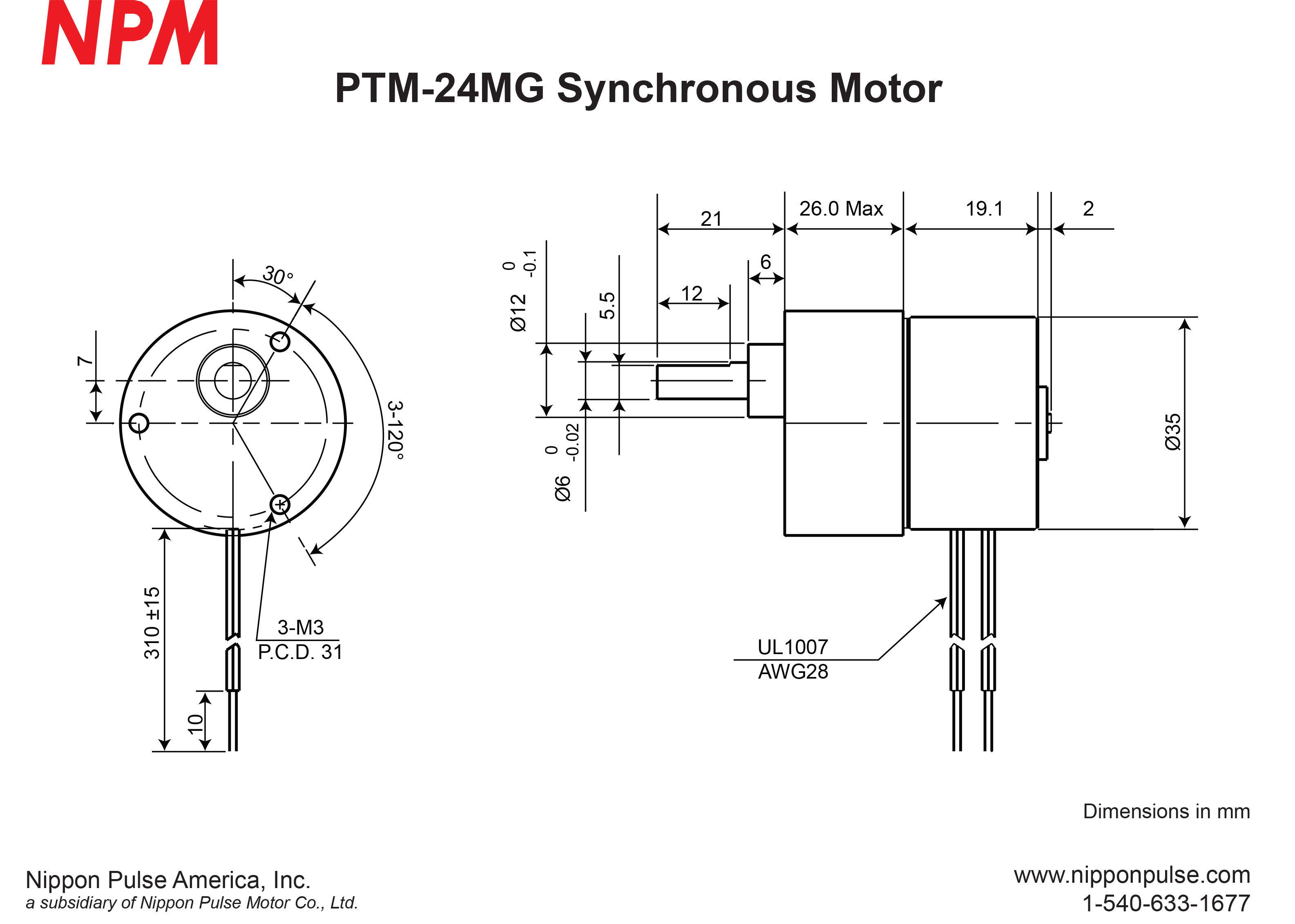 PTM-24MG(1/150) system drawing