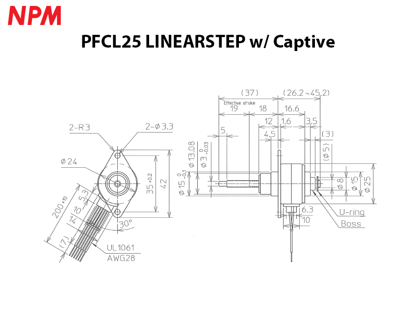 PFCL25 w/ Captive system drawing