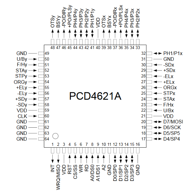 PCD4621A system drawing