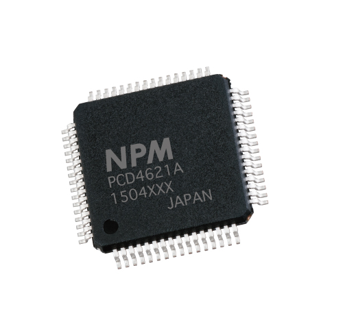 Nippon Pulse PCD 2-axis controller chip in 64-pin QFP package