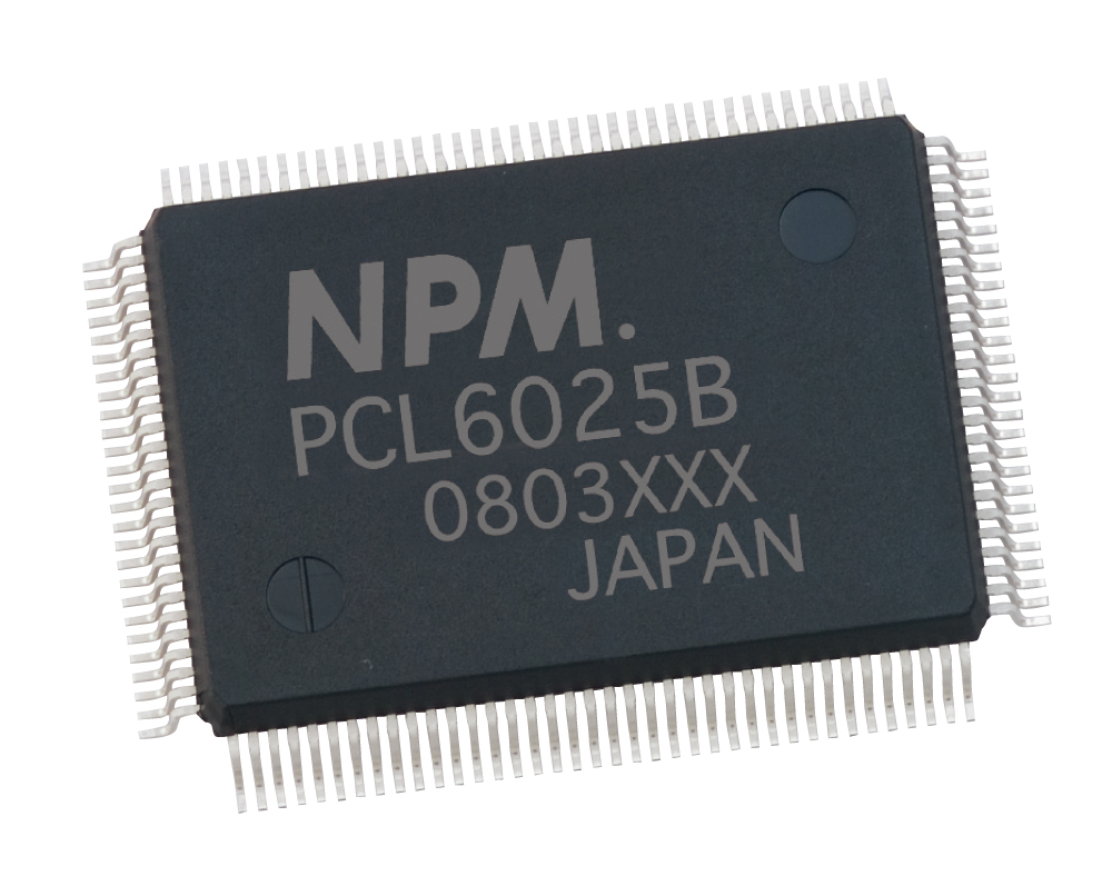 Nippon Pulse PCL 2-axis controller chip in 128-pin QFP package